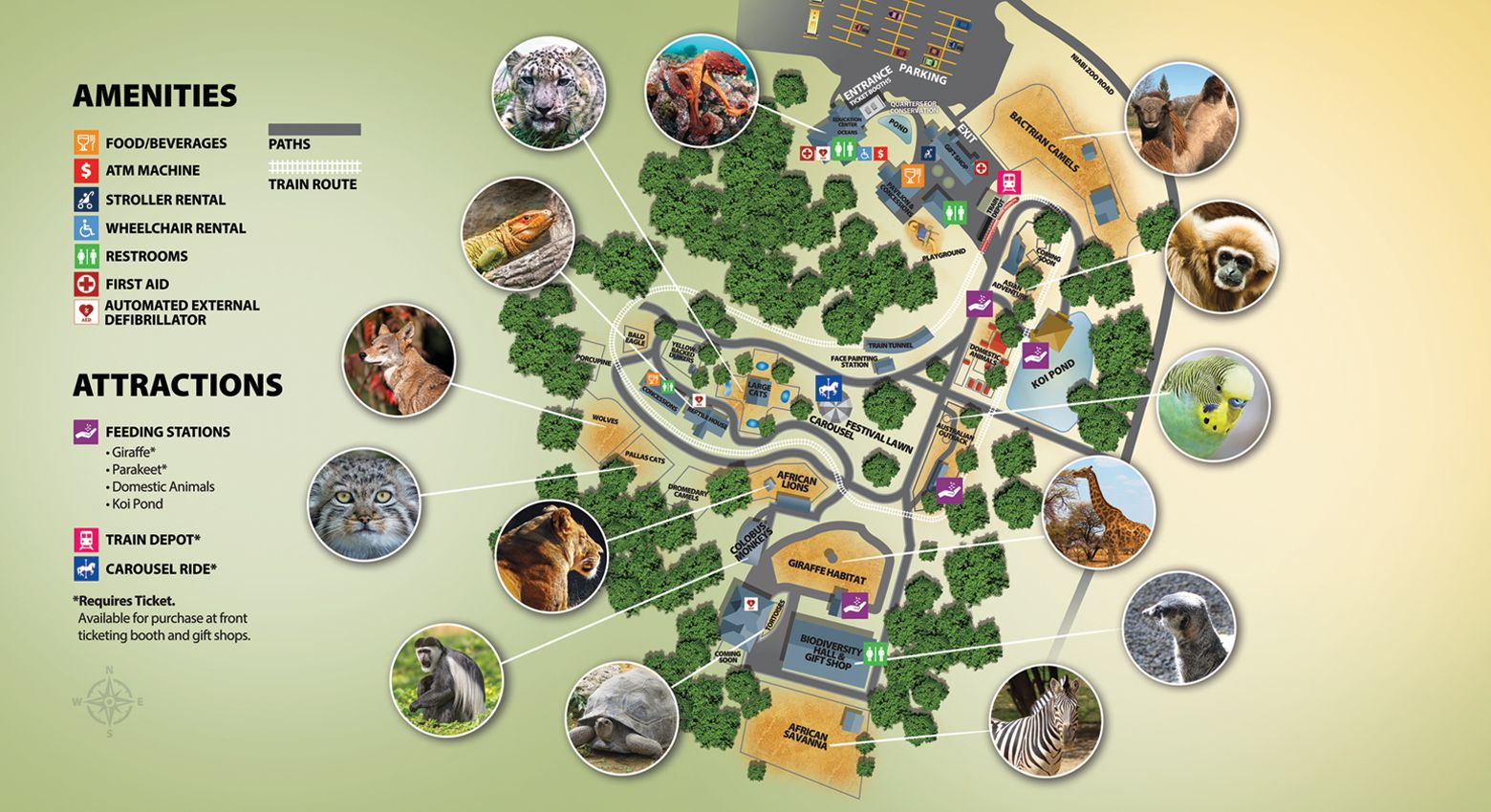 Zoo Map | Niabi Zoo Zoo Map on