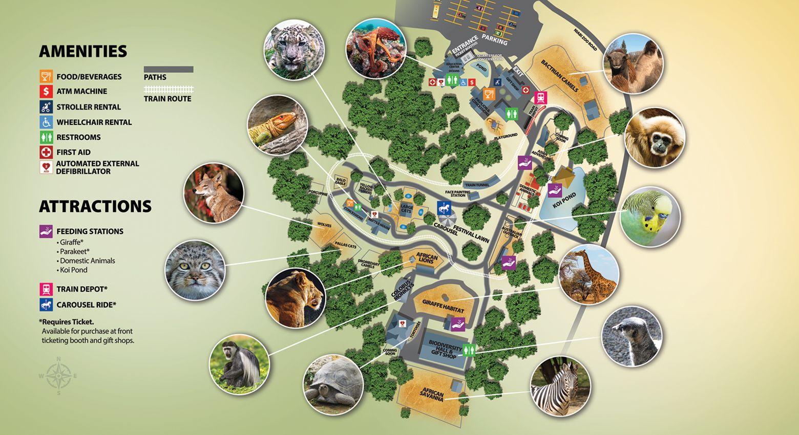 Niabi zoo park map